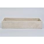 Concrete Bowl Rectangle 45x15x9cm
