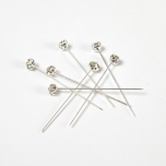 Diamond Pin Clear/Silver 4MM