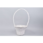 Handle Basket White 31x60cm