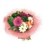 Bouquet holder sisal round loose Ø20cm pink