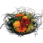 Bouquet holder woody Ø25cm black