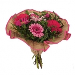 Bouquet cover Softline kraft Ø32cm pink