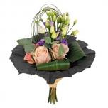 Bouquet cover kraft Ø32cm black