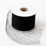 Silk Mesh Ribbon Black 5cmx20m