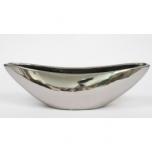 Pott Canoe Silver 40.5x13.5x10cm