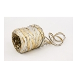 RAFFIA silver with gold 200m