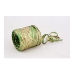 RAFFIA green with gold 200m