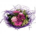 Bouquet holder woody Ø20cm lilac