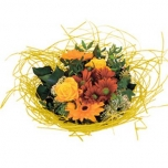 Bouquet holder woody Ø20cm yellow