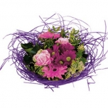 Bouquet holder woody Ø25cm lilac