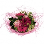 Bouquet holder woody Ø25cm pink
