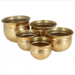 Planter Metal Gold 21x27cm