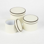 Couture Hat Boxes Cream/Black