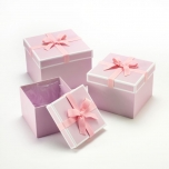 Square Stephy Hat Boxes Pink/White/Pink