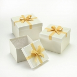 Square Stephy Hat Boxes Cream/White/Cream
