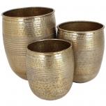 Planter Metal Gold 25x19cm