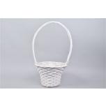Handle Basket White 31x60cm