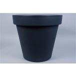 Synthetic Pot Wide Edge Black 80cm