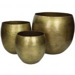 Planter Metal Gold 21x18cm