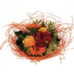 Bouquet holder woody Ø25cm orange