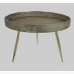 Table Metal Silver 70x70x49cm
