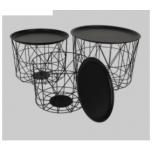 Table Black 37x46x46cm - ETTEMÜÜK