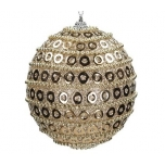 Ornament Ball Foam Champagne 10cm