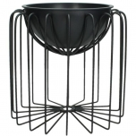 Planter Metal Black 21.8x21.8x20.8cm BOX/1