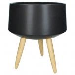 Planter Ceramic Black 30x30x36cm