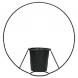 Planter Metal Black 29.8x9.5x29.5cm BOX/1 CN €