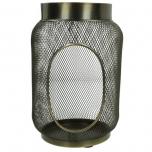 Lantern Iron Gold 15x15x22.5cm