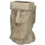 Planter Head Concrete Gold 15.5x15x23cm