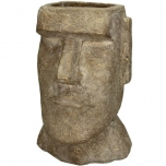Planter Head Concrete Gold 18x17x27.5cm