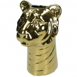 Vase Tiger Fine Earthenware Gold 15x15x22.5cm