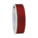 GLITTER SATIN bordeaux/gold 20-m-roll 25 mm