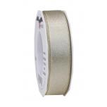 Pael Pattberg GLITTER SATIN cream/gold 20-m-roll 25 mm