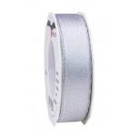 Pael Pattberg GLITTER SATIN white/silver 20-m-roll 25 mm