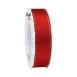 GLITTER SATIN red/gold 20-m-roll 25 mm