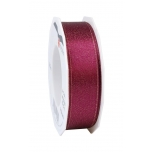 GLITTER SATIN crimson/gold 20-m-roll 25 mm