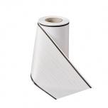 Matusepael - Prägemoire-100mm-weiß - Strichrand I schwarz