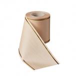 Matusepael - Prägemoire-75mm-beige - Strichrand I gold