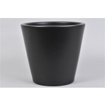 Vinci Matt Black Pot Container 24x22cm