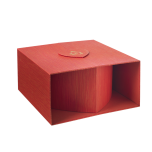 Oxford Heart Box (Lined) Red/Gold