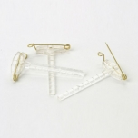 Corsage Clips Clear  4.5 x 2cm 1TK
