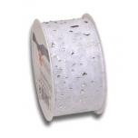 WEDDING ORGANZA 2-M-ROLL WEDDING silver 2 m rolls 40 mm