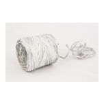 RAFFIA white with silver 200m