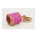 RAFFIA bright raspberry with bright green 200m