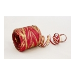 RAFFIA red with gold 200m