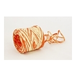 RAFFIA ecru with orange 200m