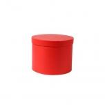 Hatbox round D.15xH.12cm red 1TK